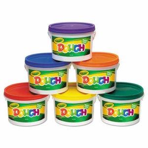 Modeling Dough Bucket, 3 lbs., Assorted, 6 Buckets/Set