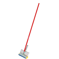 Birdwell Cleaning 529-4 Sponge Mop With Scrubber, Cellulose