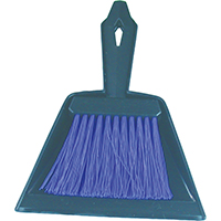 Birdwell Cleaning 376-24 Mini Whisk Broom With Dust Pan, 9-3/4 in OAL, Polypropylene Fiber