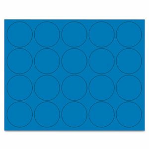 "Interchangeable Magnetic Characters, Circles, Blue, 3/4"" Dia., 20/Pack"
