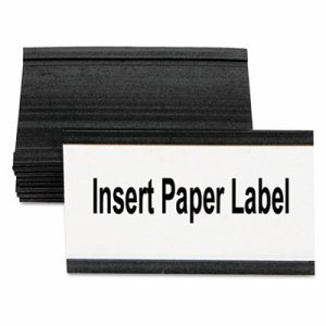"""Magnetic Card Holders, 3""""w x 1 3/4""""h, Black, 10/Pack"""