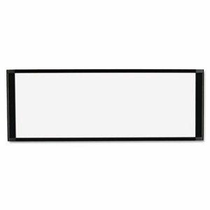 Cubicle Workstation Dry Erase Board, 36 x13, Black Aluminum Frame