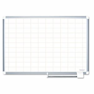 Grid Planning Board, 2x3 Grid, 72x48, White/Silver