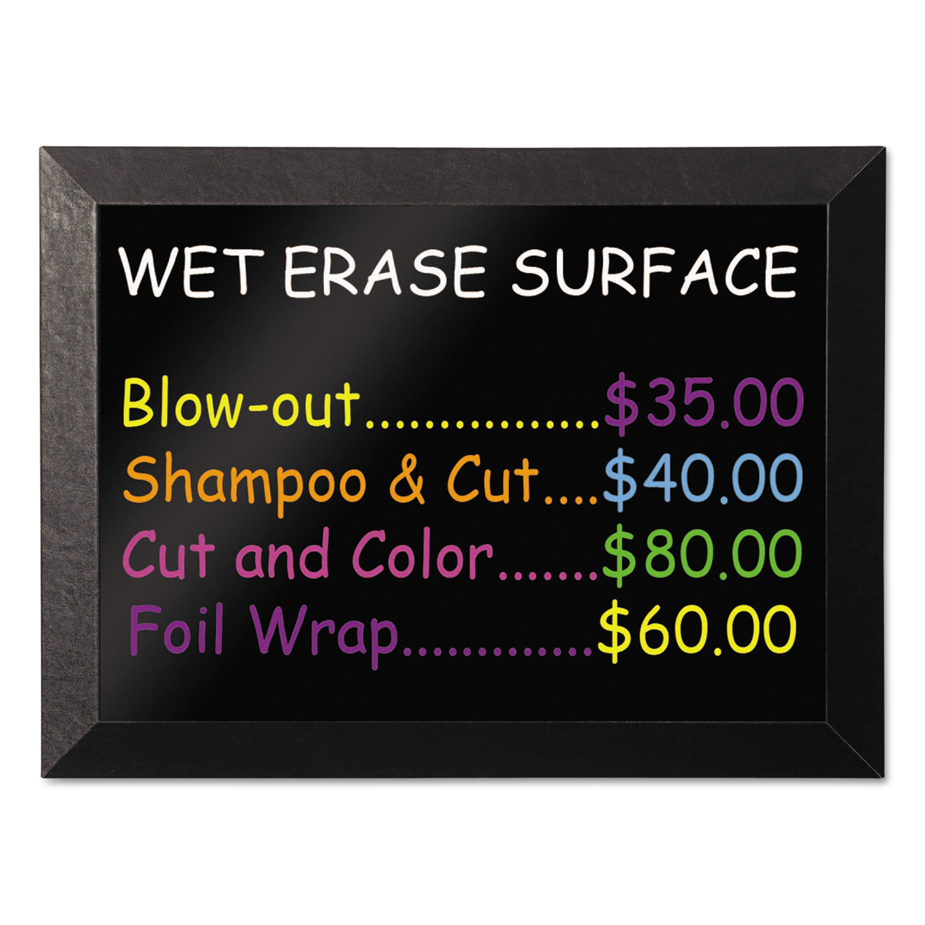 Kamashi Wet-Erase Board, 36 x 24, Black Frame