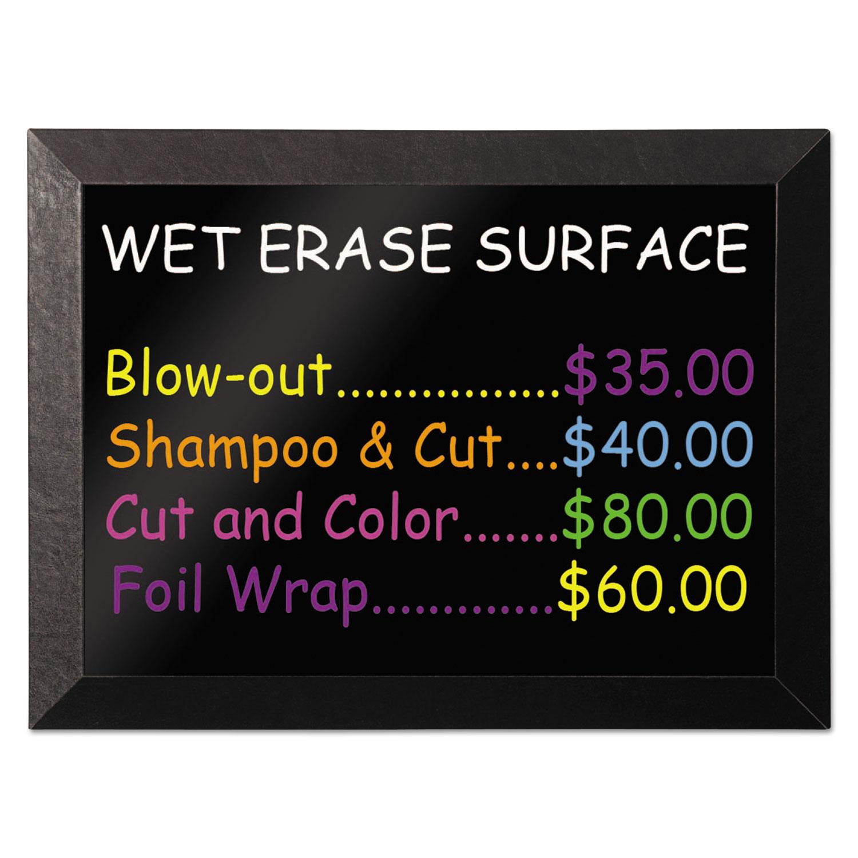 Kamashi Wet-Erase Board, 48 x 36, Black Frame