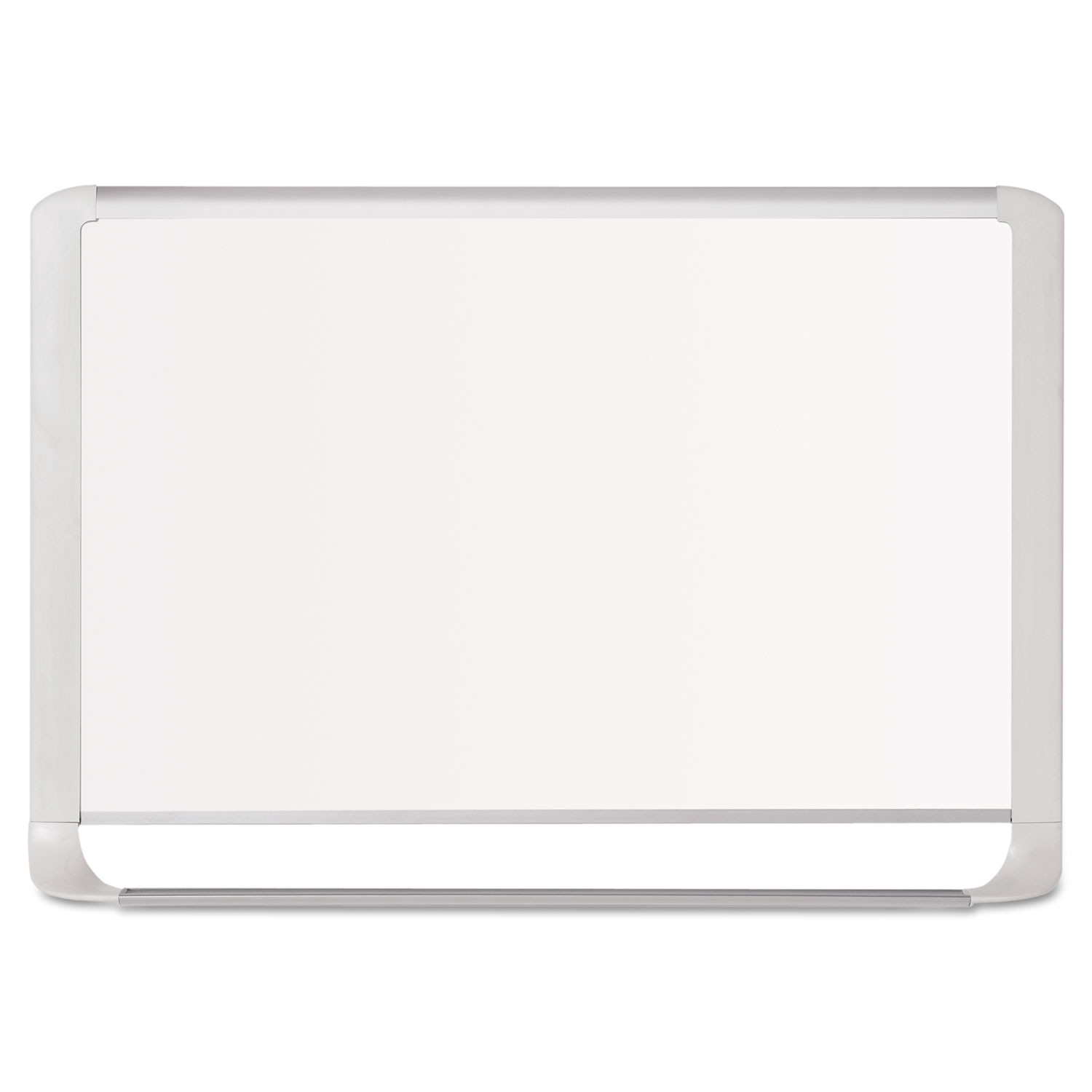 Lacquered steel magnetic dry erase board, 24 x 36, Silver/White