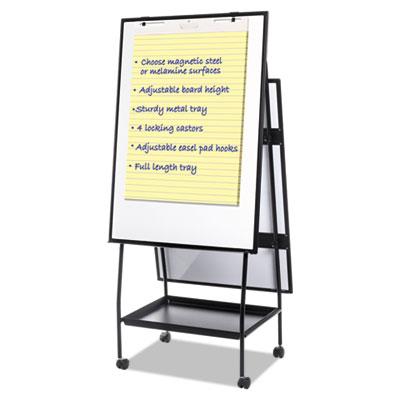 Creation Station Dry Erase Board, 29 1/2 x 74 7/8, Black Frame