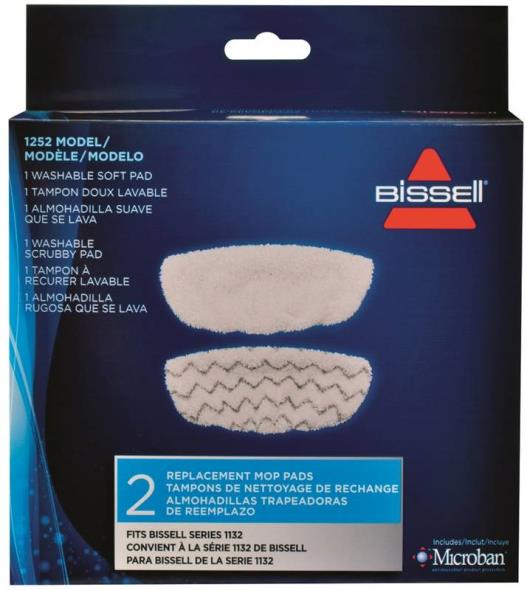 Symphony 1252 Steam Mop Pad Kit, 4 in L X 12 in W X 0.25 in Height, Microfiber