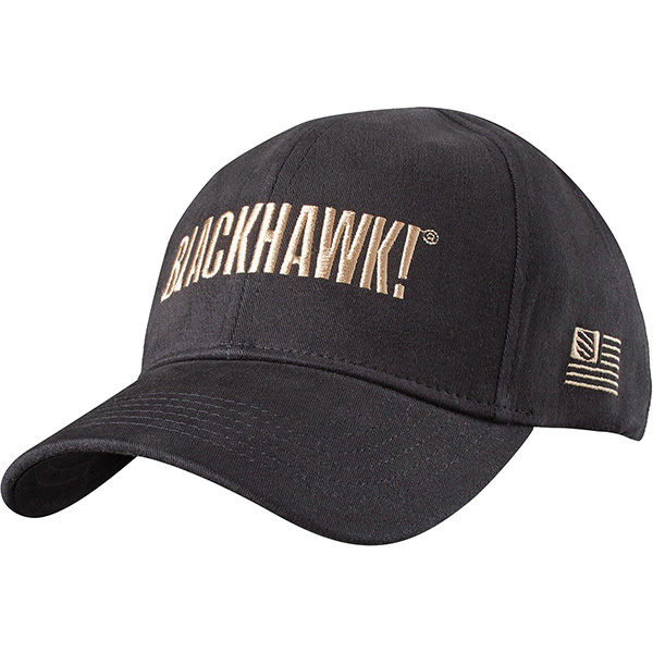 Blackhawk Fitted Cotton Spandex Cap Black M/L