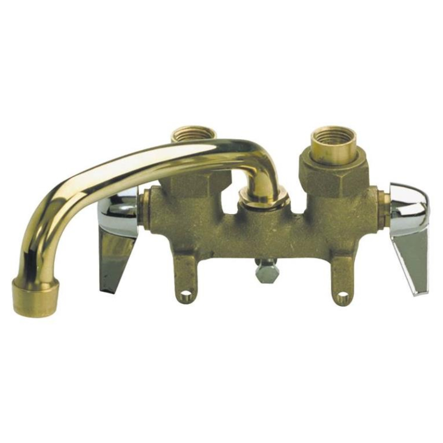 LAUNDRY TRAY FAUCET 2-HNDL BRS