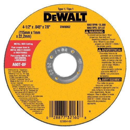 DW8062 4.5X.045X7/8 CUT WHEEL