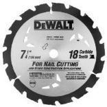 DW3191 7-1/4 IN. 18T CARBIDE BLADE