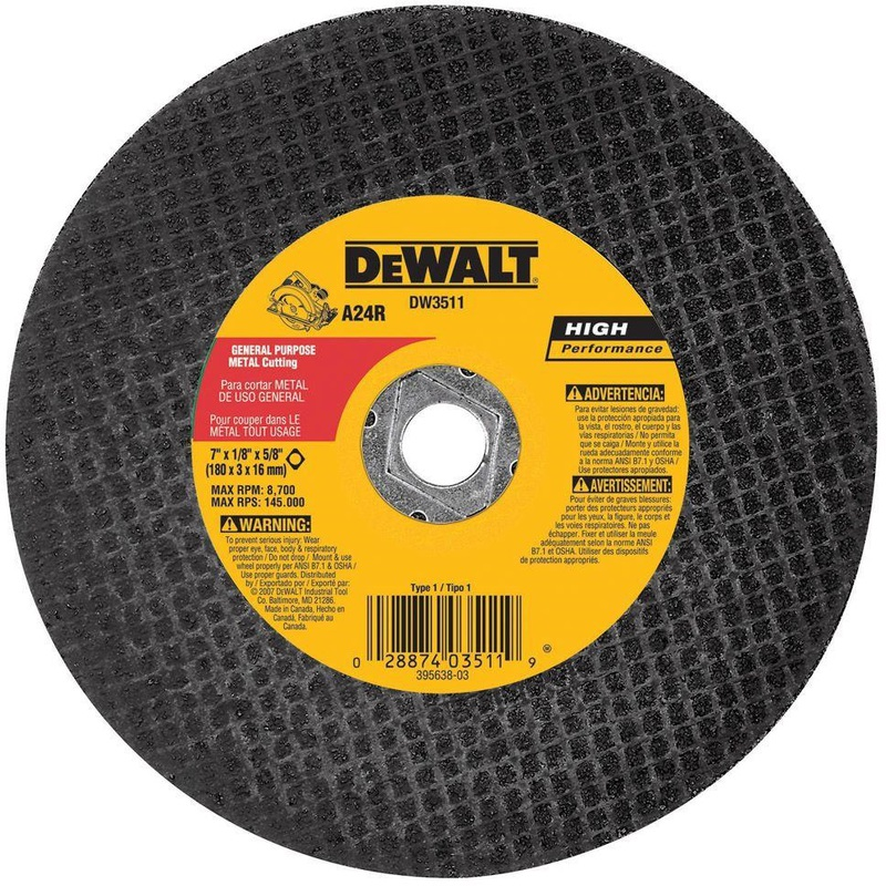 DW3511 7 IN. METAL ABRASIVE BLADE