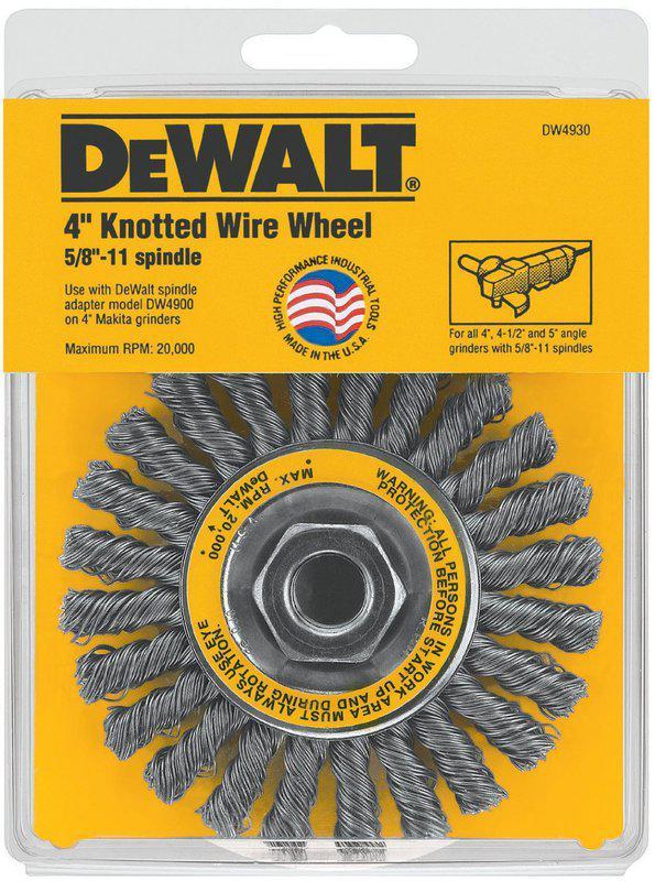 DW4930 4 IN. X5/8 WIRE WHEEL
