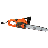 Black & Decker CS1216 Corded Chain saw, 120 VAC, 12 A, 16 in Chain