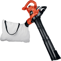 Black & Decker BV3600 Heavy Duty Blower/Vacuum/Mulcher, 180/230 mph, 12 A, Black