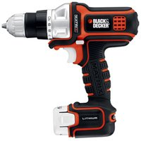 Black & Decker BDEDMT Lightweight Compact Corded Drill, 4 A, 3/8 in Keyless Chuck, 0 - 1200 rpm