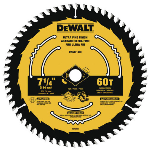 BLADE SAW CIRC 60TPI 7-1/4IN