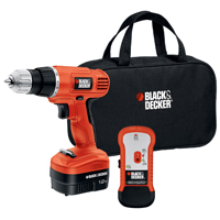 Black & Decker GCO12SFB Cordless Drill, Stud Sensor, 12 V, Ni-Cd, 3/8 in Keyless Chuck, 0 - 750 rpm