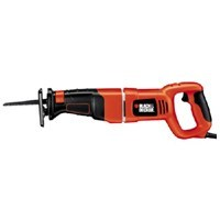 Black & Decker RS500K Corded Reciprocating Saw, Keyless Blade Clamp, 120 V, 8.5 A, 1-1/8 in Stroke