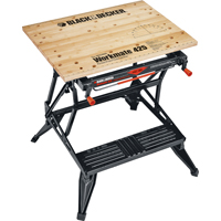 Workmate WM425 Heavy Duty Work Bench, 550 lb, 30 in H X 29 in W X 21-3/4 in D, Steel