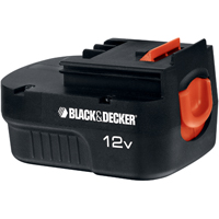 Black & Decker HPB12 Spring Loaded Slide Battery Pack, 12 V, NiCd