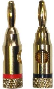 BA-115 RD/BK GOLD BANANA PLUG