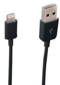 BC-109 BLK 3 FT. USB-LIGHT CHARGE
