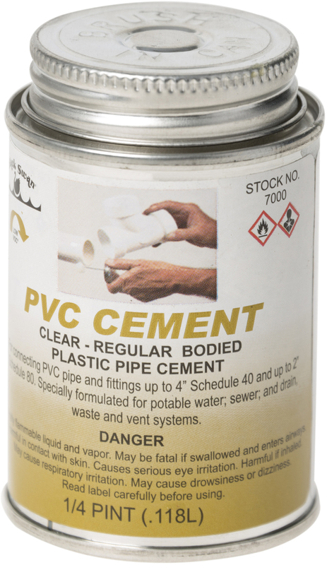 07000 4 OZ CLEAR PVC CEMENT