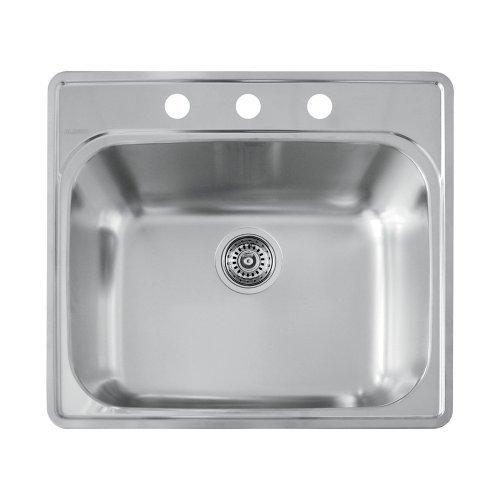 25 X 22 Three Hole *Essent Laundry Sink Stainless Steel Satin
