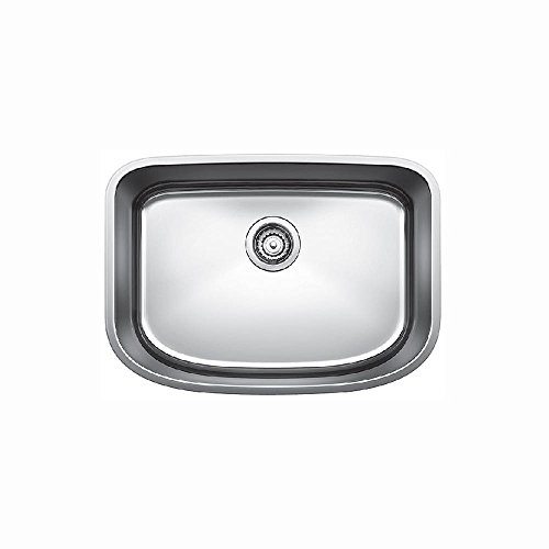 25 X 18 One Hole Single Band Stainless Steel Undercounter SINK *BLANCN POSA
