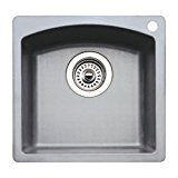 15 X 15 Single Band Bar SINK Blanco Diamond Medium Gray