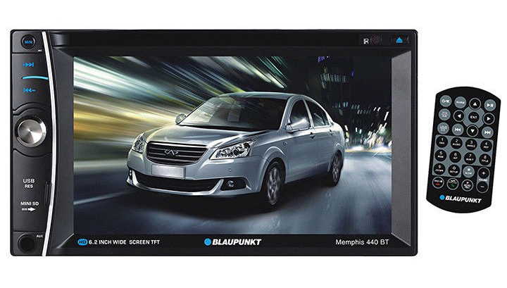 Blaupunkt Double din DVD/CD receiver with 6.2
