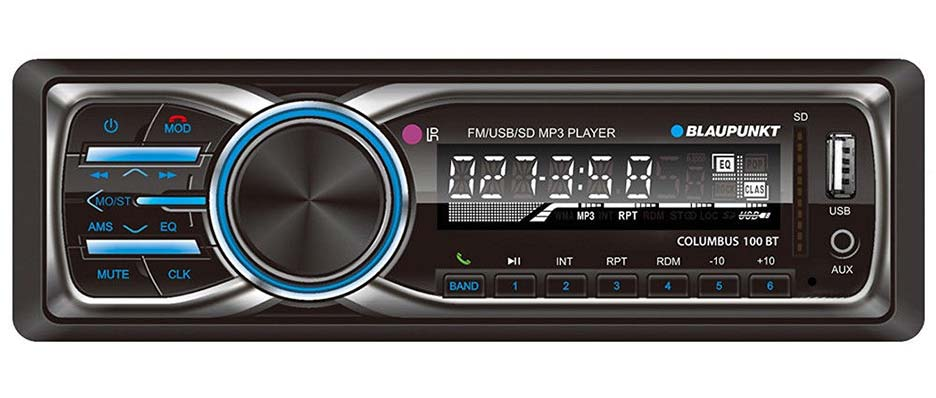Blaupunkt Mechless FM/BT/USB/Remote/ Detachable Face