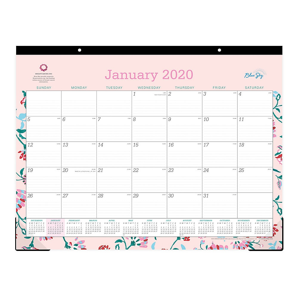 Breast Cancer Awareness Desk Pad, 22 x 17, 2020