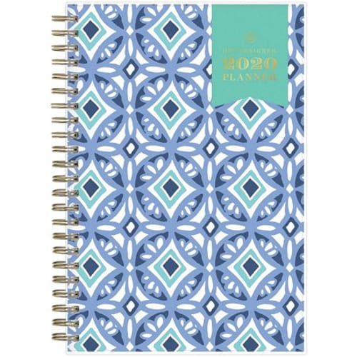 Day Designer Tile Weekly/Monthly Planner, 8 x 5, Blue/White Cover, 2020