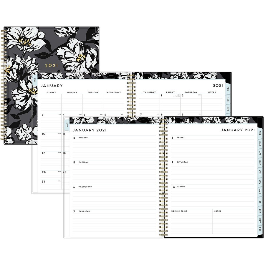 Baccara Dark CYO Weekly/Monthly Planner, 11 x 8 1/2, 2020
