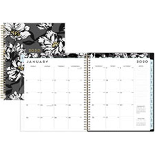 Baccara Dark CYO Monthly Planner, 10 x 8, 2020
