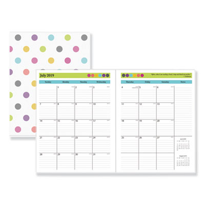 Teacher Dots Academic Year Monthly Planner, 11 x 8.5, Assorted, 2020-2021