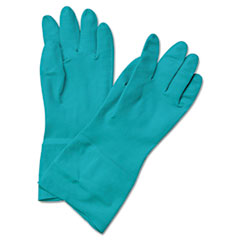 Nitrile Flock-Lined Gloves, Medium, 12 Gloves
