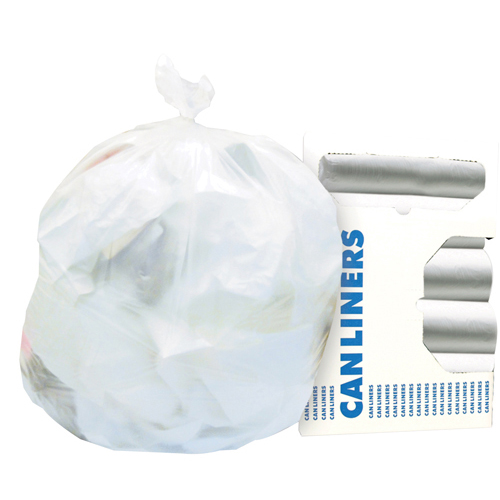 7 Gallon Clear Trash Bags, 20x22, 6mic, 2,000 Bags