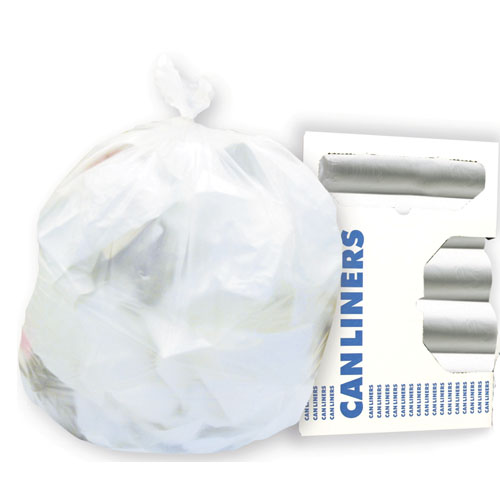 8-10 Gallon Clear Trash Bags, 24x23, 6mic, 1,000 Bags