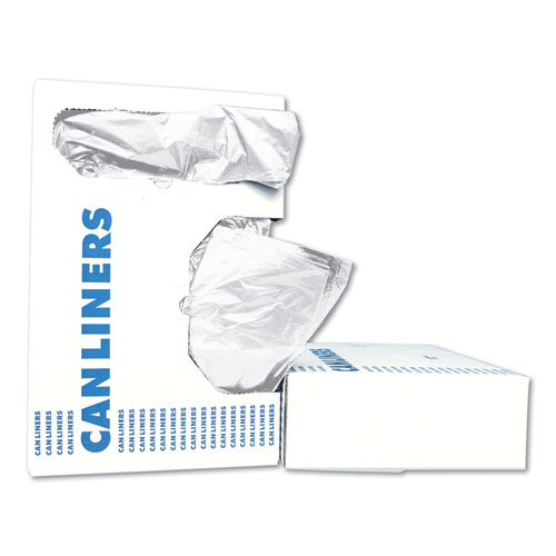LD Can Liners, 20-30gal, .60mil, 30w x 36h, White, 25 Bags/Roll, 8 Rolls/CT