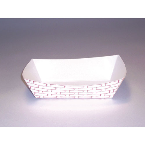 Paper Food Baskets, 6oz Capacity, Red/White, 1000/Carton