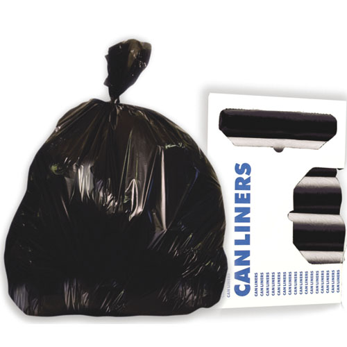 33 Gallon Black Garbage Bags, 33x39, 1.2 mil, 100 Bags