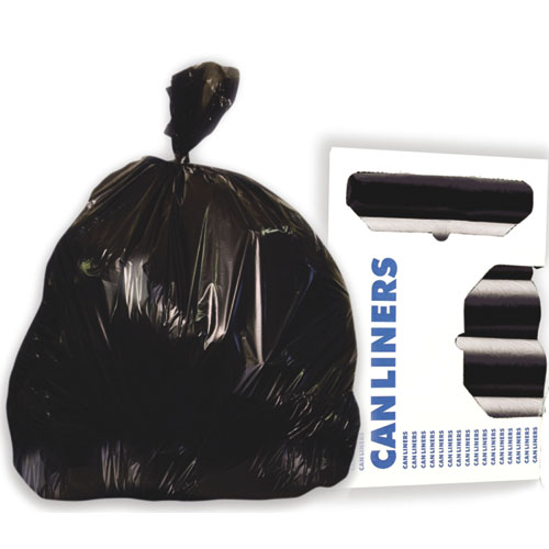 56 Gallon Black Garbage Bags, 43x47, 1.2mil, 100 Bags