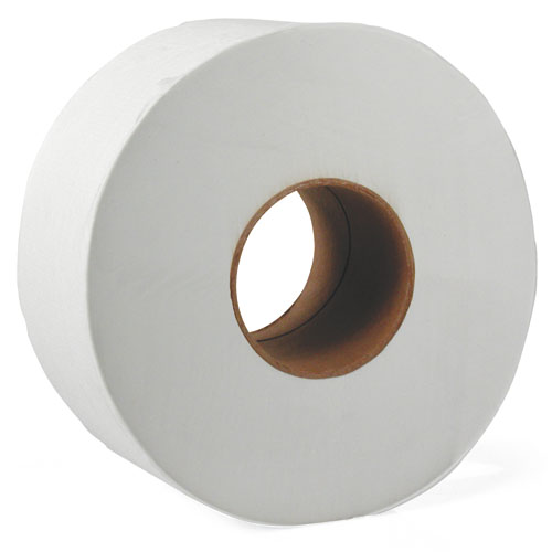 "JRT Jr. Bath Tissue, Jumbo, 1-Ply, 3 1/2"" x 2000ft, 9"" dia, White"