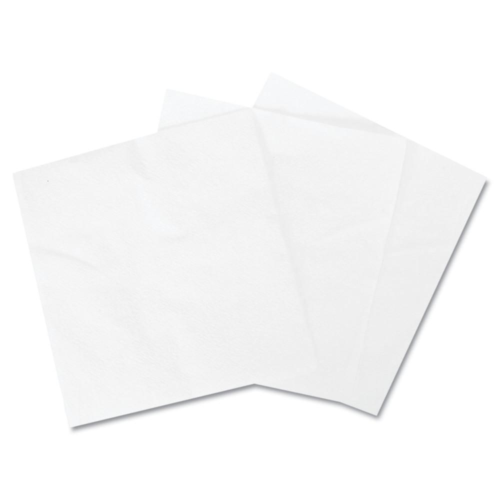 "1/4-Fold Lunch Napkins, 1-Ply, 12"" x 12"", White, 6000/Carton"