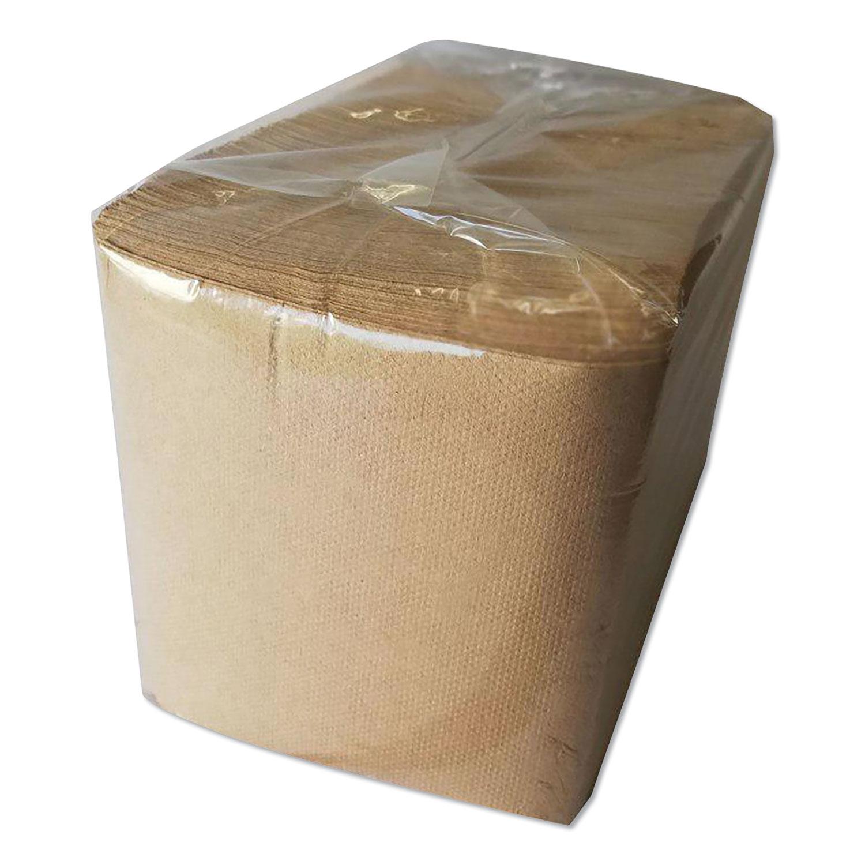 1/4-Fold Lunch Napkins, 1-Ply, 12 x 12, Kraft, 500/Pack, 12 Packs/Carton