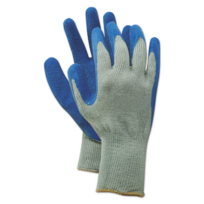 Rubber Palm Gloves, Gray/Blue, X-Large, 1 Dozen